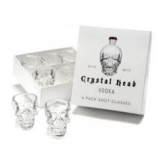 6 verres Crystal Head