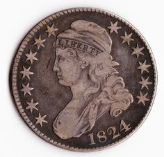 1824 Capped Bust Half Dollar Antique US by TheSecretGardenEtsy