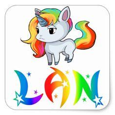 Lan Unicorn Sticker - diy cyo personalize design idea new special custom