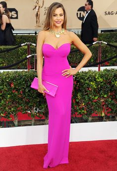ca6eaae6405b26 Pin for Later  The Most Gorgeous Looks From Award Season Sofia Vergara at  the Screen Actors Guild Awards Wearing a Vera Wang Collection gown and a  David ...