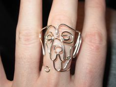 Wire Wrapped Great Dane or Other Dog Ring MADE to by 1ofAkinds, $7.00