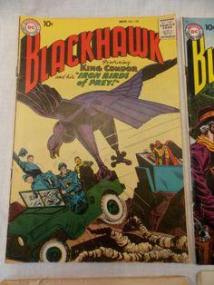 Blackhawk-131-133-141-142-Vintage-1958-DC-Comic-Book-Silver-Age-LOT