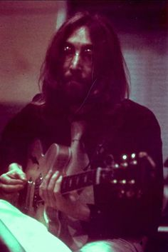 Unreleased photos of John Lennon during recording of Abbey Road, 1969  By Linda McCartney