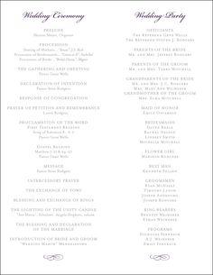 christian wedding order of service template - creative wedding programs