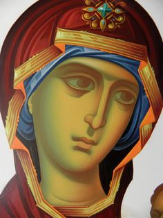 Frescele lui Alexandru Soldatov (Partea a Byzantine Art, Byzantine Icons, Writing Icon, Greek Icons, Face Icon, Queen Of Heaven, Blessed Mother Mary, Mary And Jesus, Orthodox Icons