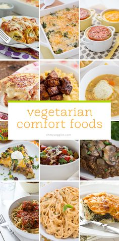 30 Vegetarian Comfort Food Recipes from Oh My Veggies