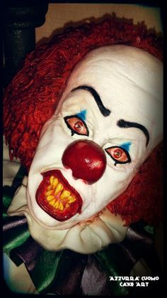"From the movie ""IT"": Pennywise the dancing clown! - Cake by Azzurra Cuomo Cake Art"