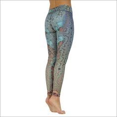 "Product information ""Blue Crystal"" ""Sweet and delicate appear a variety of colors and crystalline forms along the legs. Blue Yoga Pants, Blue Crystals, Delicate, Legs, Colors, Sweet, Fabric, How To Make, Shopping"