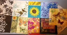 9 ASSORTED 2 AND OR 3 PLY LUNCHEON NAPKINS FOR DECOUPAGE