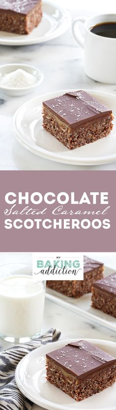 Chocolate Salted Caramel Scotcheroos. They're super delicious and come together in no time!