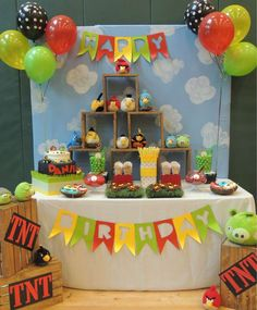 Amazing Angry Birds birthday party! See more party ideas at CatchMyParty.com!