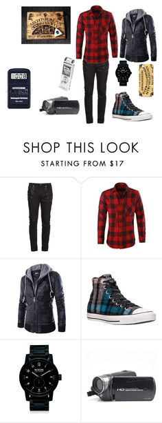 """""""Paranormal Investigation #4"""" by in-seva on Polyvore featuring Yves Saint Laurent, Converse, Nixon, Vision, men's fashion and menswear"""