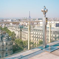 The view from Printemps department store terrace in Paris, France