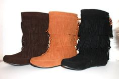 Women's Faux Suede Fringe Moccasin Beaded Tassle Mid Calf Boots Black, Camel. Brown (5.5, Black) La Bella Fashion http://www.amazon.com/dp/B00AZR0KM6/ref=cm_sw_r_pi_dp_rD6pub04QNVV9