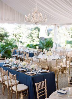 gold chiavari chairs wedding navy white - Google Search