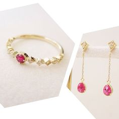 red spinel diamond jewelry #tocca #japan