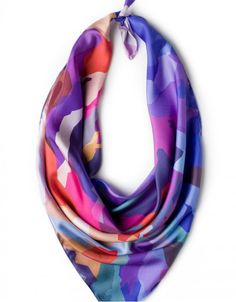 Silk scarf - Mountain Rainbow by Charlotte Hudders