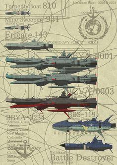 埋め込み Yamato Battleship, Aviation Engineering, Starship Concept, Sci Fi Spaceships, Captain Harlock, Star Wars Drawings, Capital Ship, Star Blazers, Space Battles