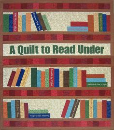 The custom library book quilt Grace M. always wanted... see more @ whimziequiltz.com