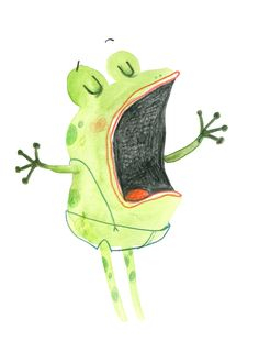 singing frog, Cécile Hudrisier