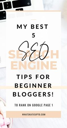 Check out my 5 best SEO tips for beginner bloggers, which includes how to use Google Search Console, Keywords, Yoast SEO and more! Learn how to rank higher on Google with beginner tips you can implement from the start. These 5 hacks are a must for every beginner blogger! Check it out now! #seo #google #beginnerblogger #bloggingtips
