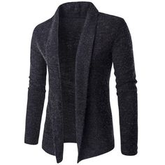 $16.41 Slim-Fit Shawl Collar Long Cardigan
