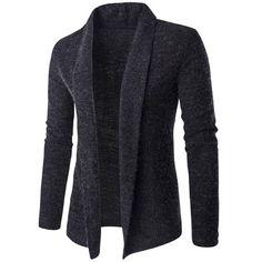 $16.41 Slim-Fit Shawl Collar Long Cardigan