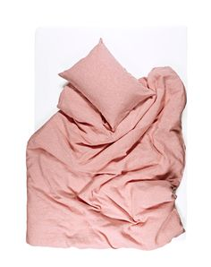 Coral Melange Linen Duvet Covers / Pillows and Fitted Sheets - Yarn Dyed Cheap Linens, Yarn Colors, Bedding Collections, Natural Linen, Linen Bedding, Girls Bedroom, Hand Sewing, Pillow Covers, Coral