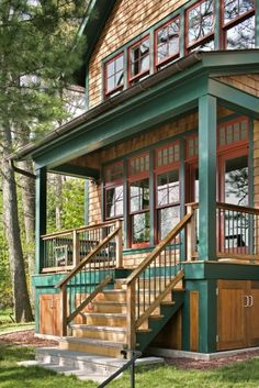 cabin exterior--choose mossier green