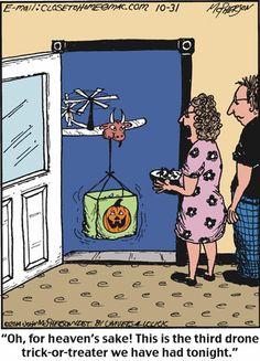 New Delivery System Drones Humor Cartoon Humor