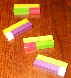 Cuisenaire Rods addition and subtraction trains.