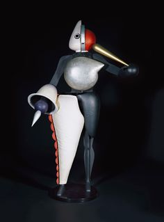 "Oskar Schlemmer, Figurines of the Triadic Ballet, 1922. Mixed materials. Loan of the Friends of the Staatsgalerie Stuttgart since 1979.  Part of the Oskar Schlemmer Exhibition ""Visions of a New World"": Staatsgalerie Stuttgart, Germany. Until April 6, 2015."
