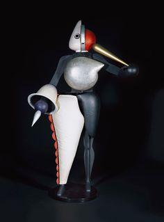 "Oskar Schlemmer, Figurines of the Triadic Ballet, 1922. Mixed materials. Loan of the Friends of the Staatsgalerie Stuttgart since 1979.  Part of the Oskar Schlemmer Exhibition ""Visions of a New World"": Staatsgalerie Stuttgart, Germany. Until April 6, 2015."
