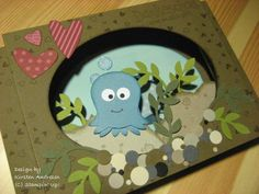 Use owl builder punch to make this cute octopus card! Stampin' Up! Octopus Card, Owl Punch Cards, Paper Punch Art, Nautical Cards, Karten Diy, Owl Card, Kids Birthday Cards, Animal Cards, Kids Cards
