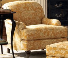 Normandy chair and ottoman - not crazy about the fabric, but love the shape of the chair.