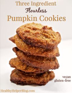 Three Ingredient Flourless Pumpkin Cookies