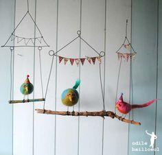 Lindos passarinhos... para alegrar um espaço.
