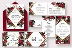 Stylish Marsala Wedding Suite by Knotted Design on @Graphicsauthor