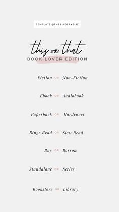 Instagram Story Questions, Instagram Story Ideas, Insta Ideas, Book Club Books, Book Lists, About Me Template, Book Instagram, Quotes For Book Lovers, Instagram Story Template