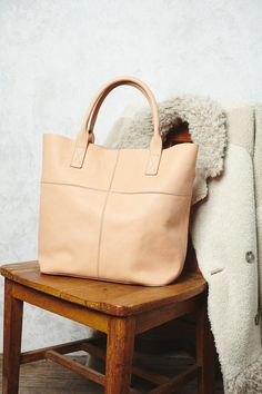 Legends of the Fall Tote | This luxe leather tote is perfect for everyday, and is just big enough to fit all of your precious belongings. Open top.