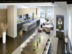 Nice and warm modern interiors.