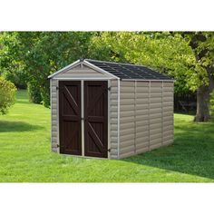 Palram SkyLight™ Storage Shed - 6' x 10' Tan
