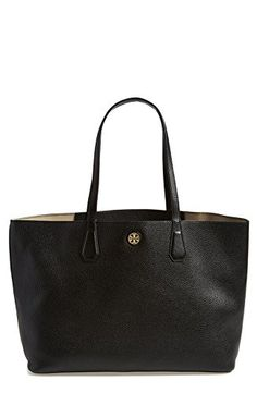 b5829bfa060 Tory Burch Perry Leather Tote Bag, Black/Beige Tor…#affilink Casual Bags
