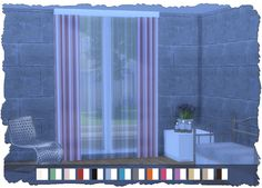 Chevron Curtains Set http://www.pixelshrine.nl/download/chevron-curtains-set-new-mesh/