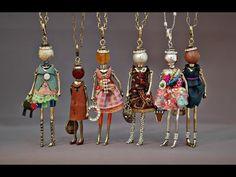 DIY~Sweet Dancing Tiny Ballerina Charm Or Pendant! Make With Beads! - YouTube