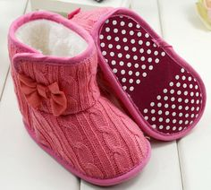 5 COLORS KNITTED BOOTS FOR BABIES