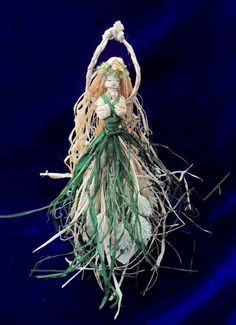 Lammas Corn Dolly Altar Goddess. Handmade by PositivelyPagan, £16.95