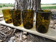 Wine Bottle Glasses with Punts 12 oz  Set of by ConversationGlass, $28.00