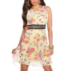 Letné šaty s kvietkovaným vzorom žlté | OblecTo.sk Summer Dresses, Fashion, Moda, Summer Sundresses, Fashion Styles, Fashion Illustrations, Summer Clothing, Summertime Outfits, Summer Outfit