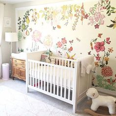 Don't mind us, we're still over here fawning over floral nurseries!  Thanks for the tag, @coloringhome.